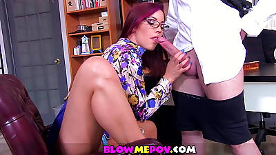 Blow Me POV - Naughty Secretary Foot Charm Blowjob
