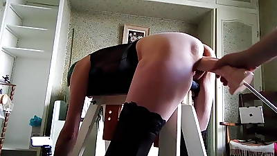 Bondage and obese dildos pt 4 for 5