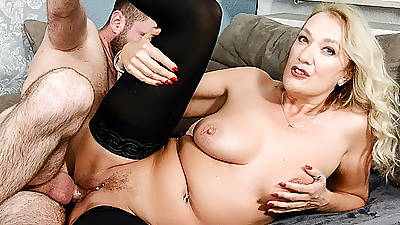 HITZEFREI Vituperative German MILF fucked by a younger man