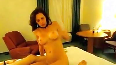 Cougar spliced swallows college cock