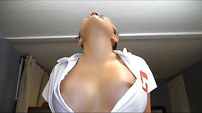 Cosplay Cissified Nurse Blowjob Cumshot POV