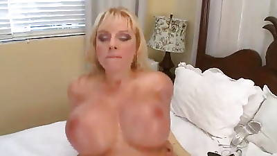 Big performance tits Milf rides cock