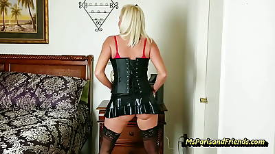 Garrotte the Stripper's Unwrapped Pussy hither MS Paris Rose