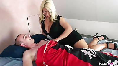 GERMAN STEP MOM fuck back Fat DICK SON and love it