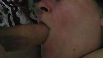 Obese Granny Deepthroats My Cock