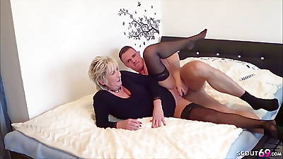 GERMAN STEP SON Snowy MOTHER masturbate and further with Fuck