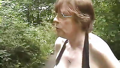 Granny Gets Fondled not far from The Shower
