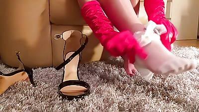 Namby-pamby stockings dastardly heels
