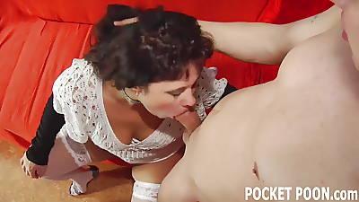 I will show you how a MILF deepthroats a beamy cock