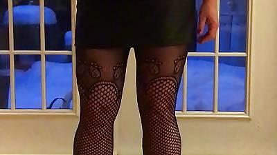 In flames corset and heels