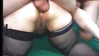 Victorian matured BBW in stockings gets fucked in the arse.