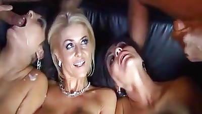 Busty twins regarding orgy